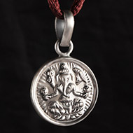 Ganesh Locket in Pure Silver - Design XIII
