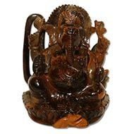 Tiger Eye Ganesha - 710 gms