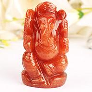 Red Jade Ganesha - 132 gms