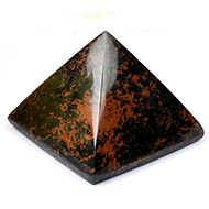 Pyramid in Natural Mahagony - 80 gms