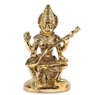 Saraswati Statue in Brass