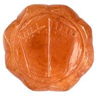 Lakshmi Charan in Orange Jade - 47 gms
