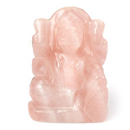 Rose Quartz Laxmi Idol - 80 gms