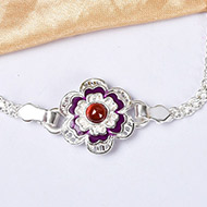 Pure silver Rakhi - Design II