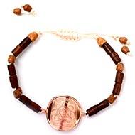 Shree Saraswati Yantra Bracelet in Copper