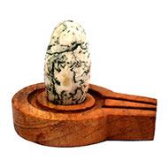 Bana Lingam with Stone Yoni base - XXXII