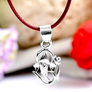 OM Ganesh Locket in Pure Silver - IV