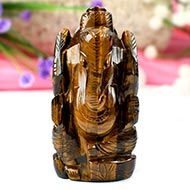 Tiger Eye Ganesha-120 gms