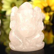 White Agate Ganesha - 130 gms - Left Trunk