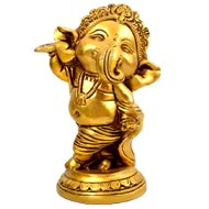 Standing Ganesha in Brass