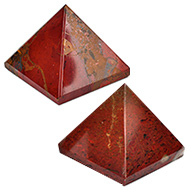 Pyramid in Natural Red Jasper - Set of 2 - II