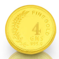 4 gm Pure Gold Coin - 24 carat