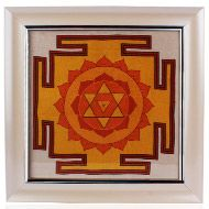 Baglamukhi Yantra on silk with frame