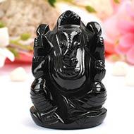Black Agate Ganesha - 183 gms