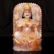 Padmasundari Rose quartz Laxmi idol - 1227 gm..