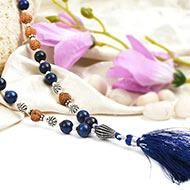 Lapis Lazuli and Rudraksha beads Mala