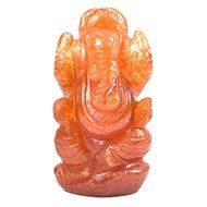 Red Jade Ganesha - 61 gms