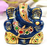 Exotic Ganesha Idol in Lapis Lazuli - 105 gms