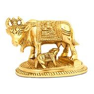 Gaumata with Calf in Brass - III