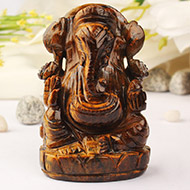 Tiger Eye Ganesha - 305 gms