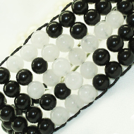 Black and White Agate Multi Beads Bracelet