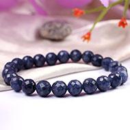 Blue Sapphire faceted Bracelet - 9mm