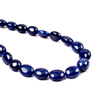 Blue Sapphire Oval Necklace