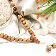 Red and White Sandal Mala