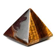 Pyramid in Tiger Eye