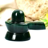 Green Jade Shivlinga - 56 gms