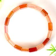 Carnelian Bracelet - Faceted Beads - I