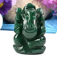 Green Jade Ganesha-137 gms