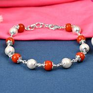 Trendy Pearl Coral bracelet