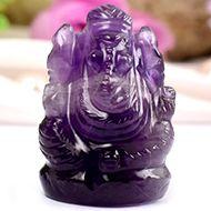 Ganesha in Amethyst - 18 gms