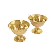 Oil Lamp in brass - Set of 2