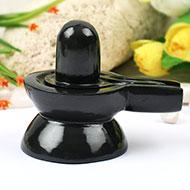 Black Agate Shivling - 295 gms