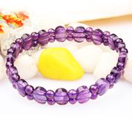 Amethyst Bracelet - Faceted Beads - III