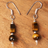 Tiger Eye Earrings - Design I