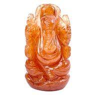 Red Jade Ganesha - 83 gms