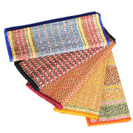 Kusha Grass Mat with Thread Work - 36 x 36 Inches