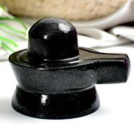 Shivlinga in Black Jade - 172 gms