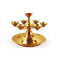 Multi lamp samai in brass