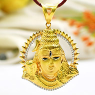Shiva Pendant in Gold - 6.87 gms