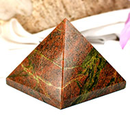 Pyramid in Red Jasper-II