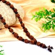 4 mukhi Brahma mala with Red Sandalwood beads - Design II