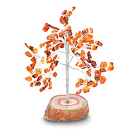 Natural Orange Jade Chakra Vastu Tree - Small