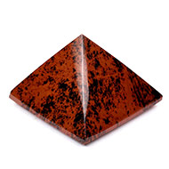 Pyramid in Natural Mahagony - 58 gms