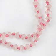 Pink Rose quartz faceted rosary
