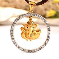 Ganesh Pendant in Gold - 3.41 gms