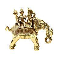 Riddhi Siddhi Ganesh in Brass